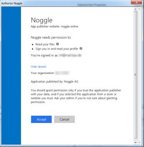 Search OneDrive Documents - Noggle Login Confirmation