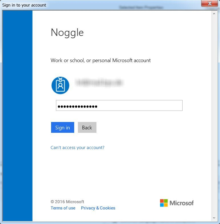 Search OneDrive Documents - Noggle Login