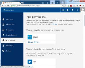 OneDrive Noggle App Revoke Permissions
