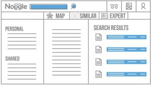 Übersichtliches Interface der Desktop-Suche Noggle