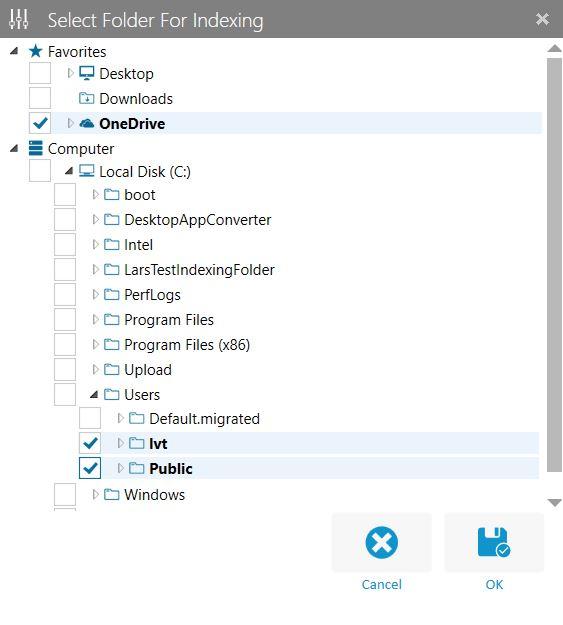 Select Folder Dialog