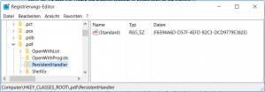 RegEdit PDF ID